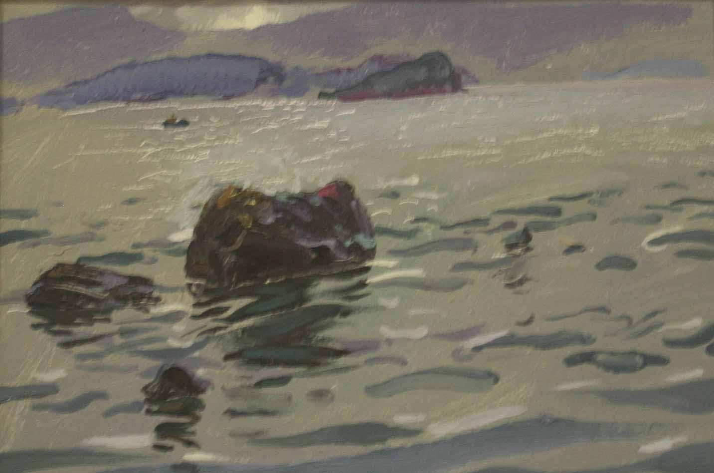 美国海景油画精品图片